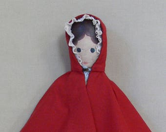 Red doll's cloak