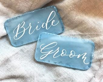 Place cards, beach wedding decor, beach wedding table decor, sea glass place cards, coastal wedding decor