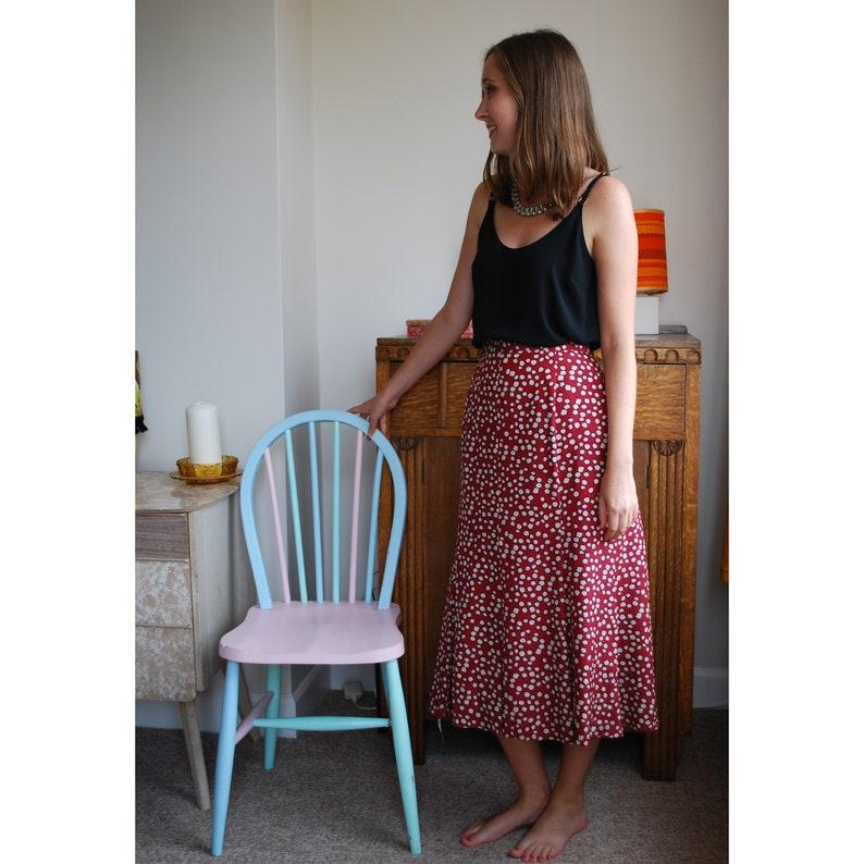 1c764c35d Jacques Vert Red Polka Dot Pleated Skirt Size 12/14 | Etsy