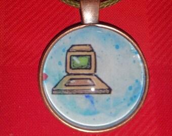 Computer Pendant Necklace