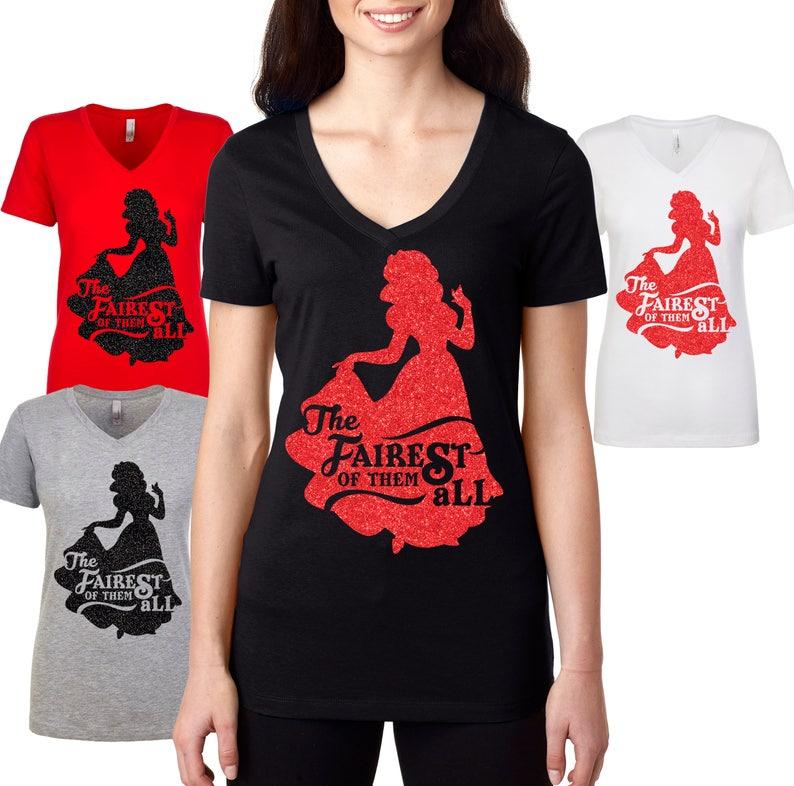 9d9312d6 Princess Glitter t shirt Fairest Of Them All T Shirt   Etsy