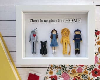 NEW! Wizard of Oz Portrait | There is No Place Like Home | Wizard of Oz Worry Doll Set | Wizard of Oz Art | Wizard of Oz Nursery Decor