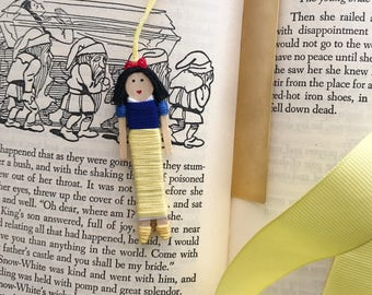 SALE! | Snow White Worry Doll Christmas Ornament | Snow White Clothespin Doll