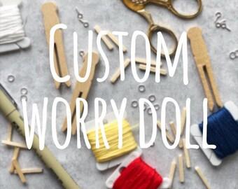 Custom Worry Doll | Custom Worry Doll Christmas Ornament | Custom Pet Ornament | Personalized Worry Doll | Custom Made Clothespin Doll