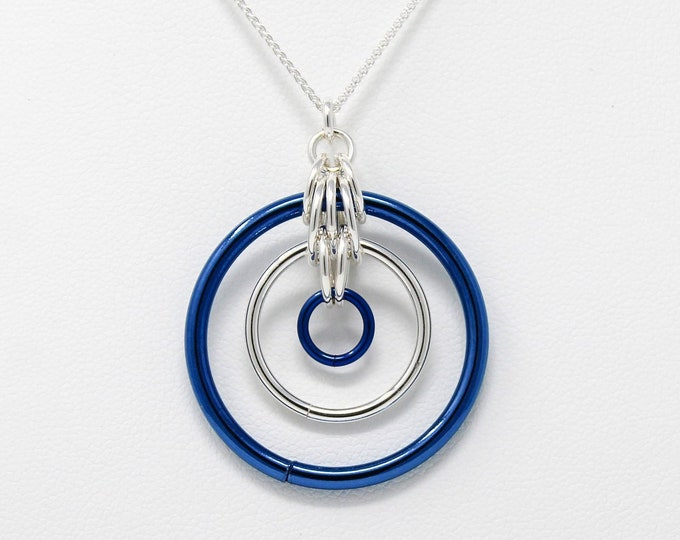 Illusion Pendant Necklace - Sterling Silver Pendant Necklace