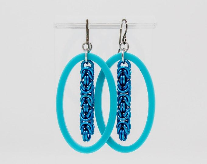 Blue Summer Dangle Earrings