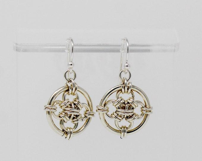 Sterling Silver Dangle Earrings - Sterling Crosshairs Earrings