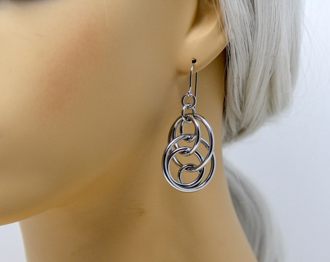 Illusion Loops Dangle Earrings