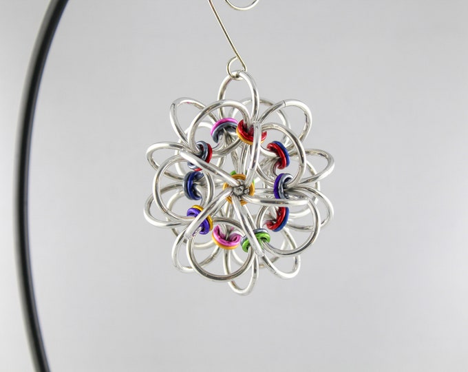 Chainmaille Ball Ornament - Japanese Chainmaille Ball Ornament
