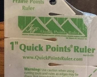 """Prairie Point Ruler for 1"""" prairie points by Quick Points Ruler, FREE shipping in USA"""