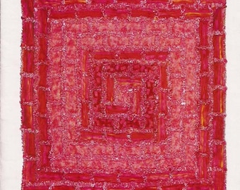 Concentric Bricks Rag Quilt by Kay Gentry