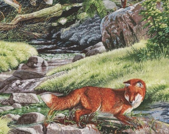 North American Wildlife Fox fabric by Elizabeth's Studio