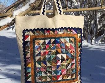 Mini Quilt Tote Bag