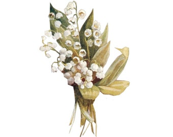 """Vintage Lily Flower Temporary Tattoo - """"Gild the Lily"""""""