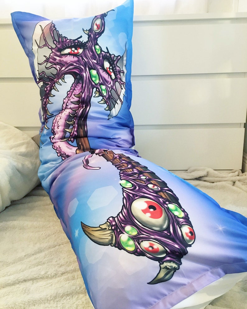 Cursed Axe Body Pillow Dungeons and Dragons Magical Dakimakura image 0