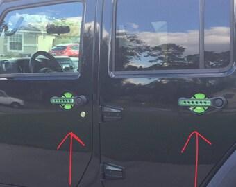 Jeep Wrangler JK Door Handle Recess Decals - Set of 3