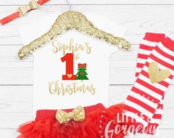 my first christmas onesie first christmas onesie outfit girls 1st christmas baby girl my first christmas christmas outfit tutu