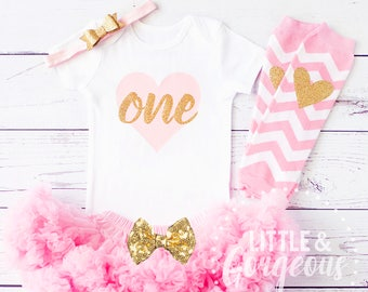 First Birthday Outfit Girl, 1st Birthday Outfit, First Birthday Onesie, Girls Gold Pink Princess Outfit, Pink Gold Birthday, Pettiskirt