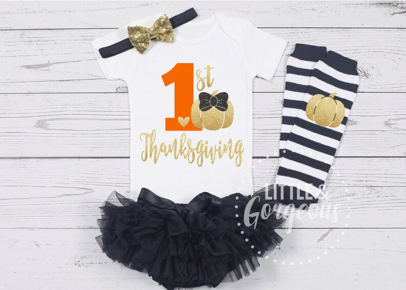 1aac217600a92 First Thanksgiving Outfit First Thanksgiving Onesie 1st | Etsy