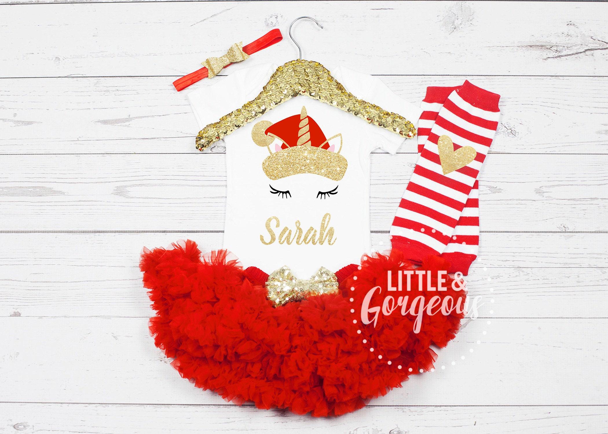unicorn santa girls christmas outfit girls christmas unicorn onesie babys first christmas first christmas onesie girls unicorn outfit