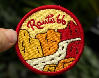 Embroidered Novelty Patch The Mother Road Route 66 Texas NEW