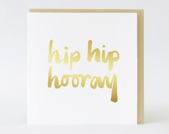 Hip Hip Hooray Gold foil card  TPRC111