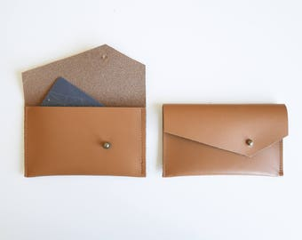 Leather Pouch// Credit card pouch // Travel card pouch