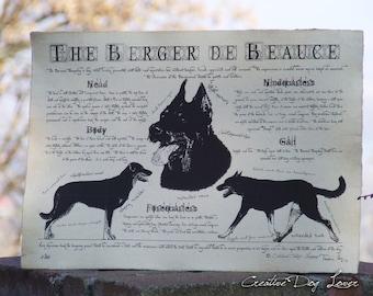 Antique styled dog standard - Berger de Beauce