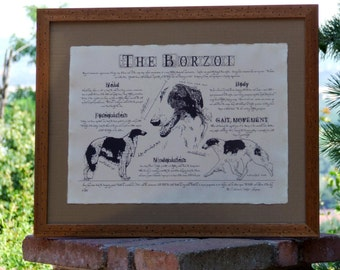 Antique styled dog standard - Borzoi