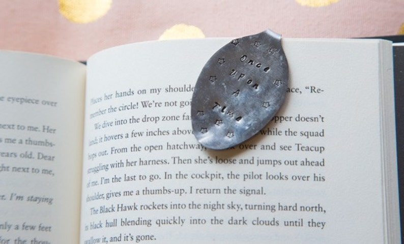 Hand Stamped Spoon Bookmark Once Upon A Time image 0