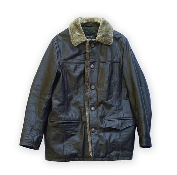Jacket Parka Coat Men Homme Veste Leather Manteau Vintage Cuir Redskins OPXZTkiu