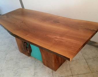 Rustic Kitchen Table - Live Edge furniture