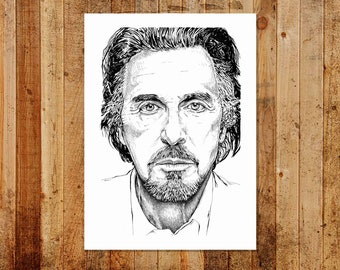 Al Pacino Portrait - A3 Ltd/Open Edition Print