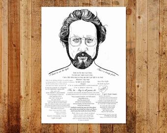 Dr Hooper ' I got that beat'  Limited/Open Ed A3 Print