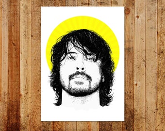 Dave Grohl - Color Block Series - 'Nirvana Yellow Halo' - Ltd/Open Edition A3 Print