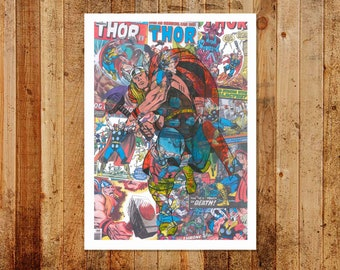Vintage Comic Thor Limited/Open Edition A3 Print