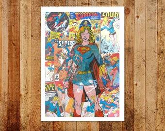 Vintage Comic Superwoman Limited/Open  Edition Print