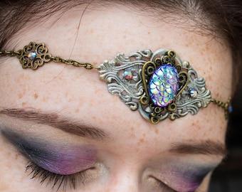 Mermaid Circlet - Fantasy Head Chain - Head Band - Festival Jewellery - Boho Gypsy - Goth Fashion - Halloween Crown  - alternative gift