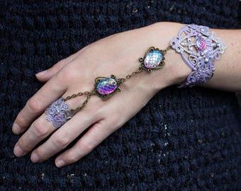 Mermaid Jewellery - Slave Bracelet - Boho Festival Fashion - Pastel Goth - Summer Jewelry - Halloween Costume - Gift for Her - Mermaid Ring