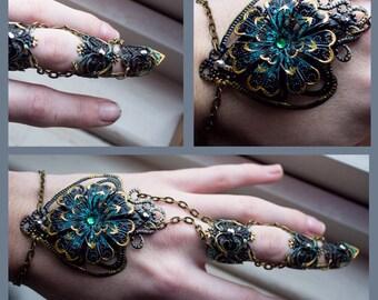 Full Finger Claw - Black Dahlia - Single Piece - Adjustable