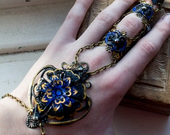 Full Finger Claw - Blue Orchid - Single Piece - Adjustable