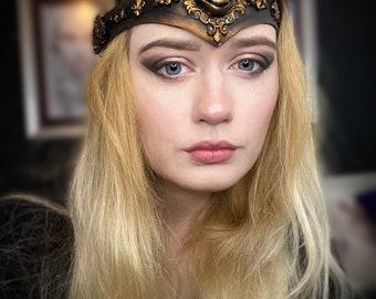 Third eye circlet - head band steampunk - seer witch costume - warrior band