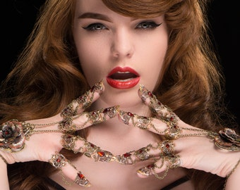 Claw Rings - Victoria Rose Hand Pieces - Vampire Armour