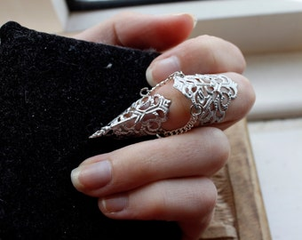 Silver Dragon Armour - One Adjustable Midi Ring Claw