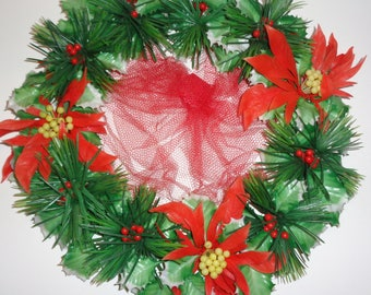 vintage christmas wreath vintage plastic christmas door decor bradford wreath 13 - Christmas Wreaths Etsy