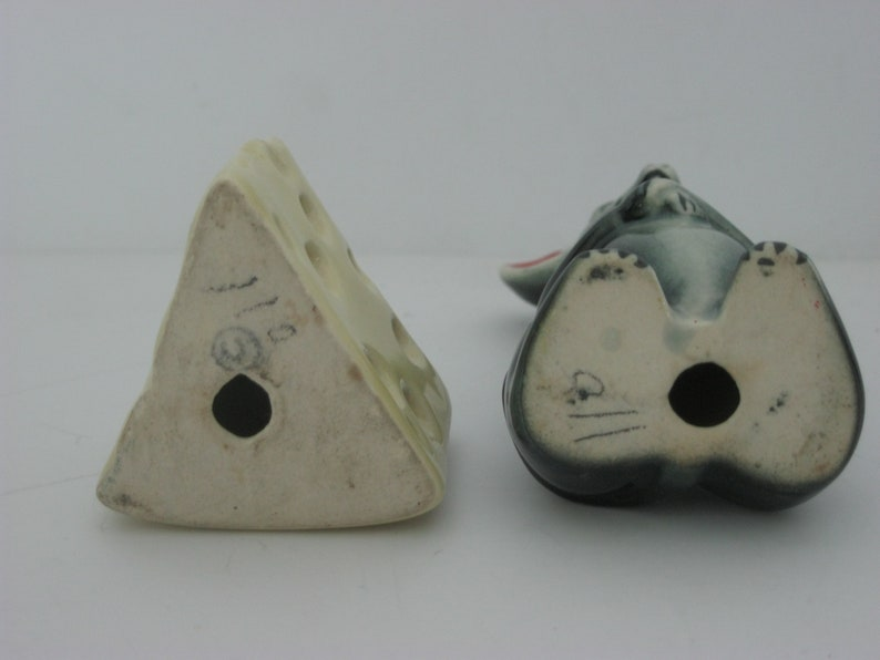 Vintage Mouse Salt and Pepper Shakers Cheese Salt and Pepper Shakers