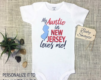 bb8e70e21 My (YOU CHOOSE the title!) in New Jersey loves me! Cute Baby One Piece  Bodysuit or Toddler   Kids   Children s T-shirt