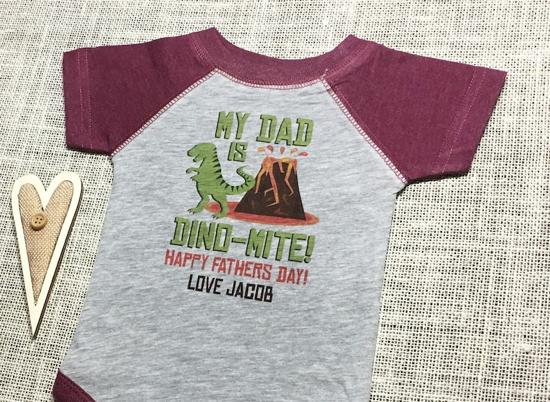 4170340d Personalize The Name My Dad is Dino-Mite Vintage Look | Etsy