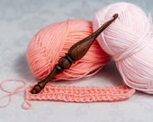 Wooden Crochet hook 6 mm of 100 natural AFRICAN ZEBRAWOOD (Microberlinia) for knitting for yarn K115