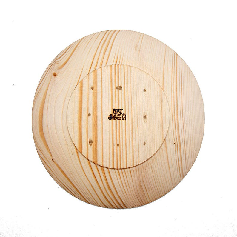 Series Abies Sibirica Wooden plate 205 mm of SIBERIAN FIR-TREE Wood for Foodstuff wooden Ware Bowl Dish Natural wood Woodworker #T62